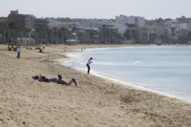 Playa de Palma, popular with German tourists.