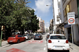 30 kilometre per hour speed limit in Palma, Mallorca