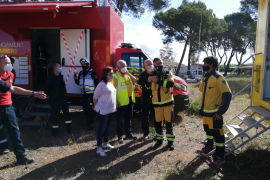 Forest fire simulation exercise in Mallorca