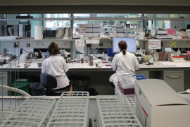 Microbiology laboratory at Son Espases Hospital in Palma, Mallorca