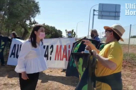 Protest on the Llucmajor-Campos motorway opening