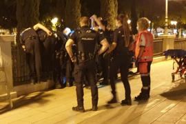 Preventing a suicide in Palma, Mallorca
