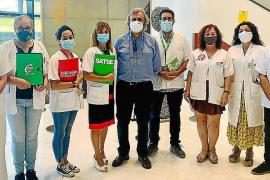 Union representatives at Son Espases Hospital in Palma, Mallorca