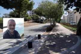 Marcos Blasco hit a pothole in Passeig Calvia in Portals Nous. 22.6.21.