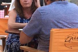 Balearic President, Francina Armengol at Café Llotja, Palma.