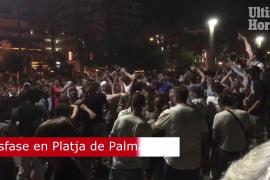 Tourist party in Playa de Palma.