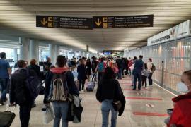 Passengers at Palma Airport.