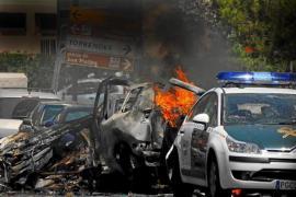 Aftermath of ETA bombing in Palmanova.