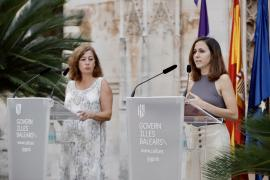 President Armengol of the Balearics with Spain's minister for social rights, Ione Belarra