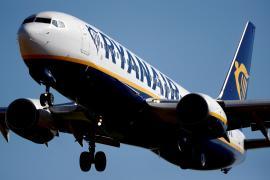 A Ryanair Boeing 737 aircraft approaches Paris-Beauvais airport in Tille, France