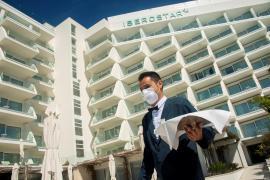 Waiter at an Iberostar hotel in Mallorca