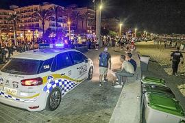 Local Police in s'Arenal, Mallorca.