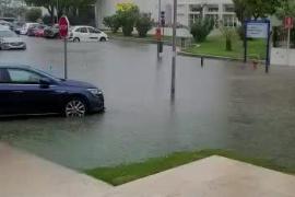 Torrential rain in Muro.