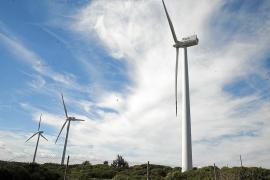 Wind park in Es Milà, Menorca