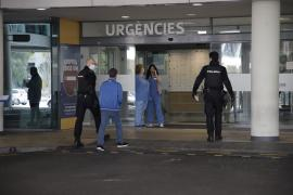 National Police at Son Espases Hospital, Mallorca