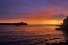 Sunset in autumn in Mallorca
