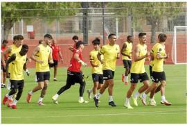 Mallorca in training on Friday.