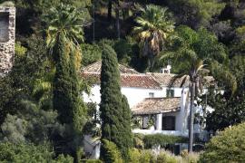 View of the luxury villa in Benahavis, where British Prime Minister Boris Johnson is spending a few days on holiday.