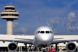 Plane at Palma's Son Sant Joan Airport, Mallorca