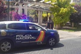 National Police Officers in Son Forteza, Palma.