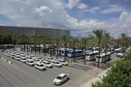 Taxis at Palma Airport, Mallorca.