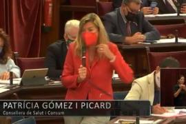 Balearic health minister, Patricia Gómez.