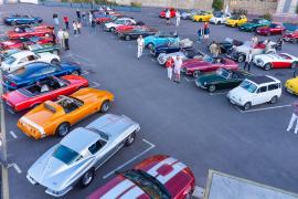 Opening night of Mallorca Classic Week and the weekly Thursday meetup fill the car park