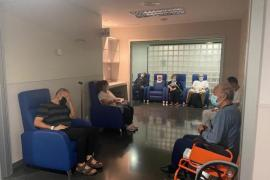 Patients waiting for a bed.