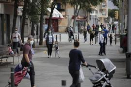People on a street in Palma, Mallorca