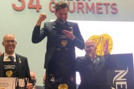 Gabriel Lucas Dimmock named 'Best Sommelier in Spain. 21.10.21. Pere Bergas.