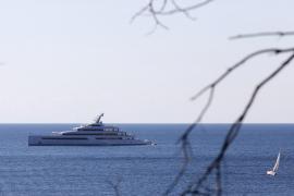 Jack Ma's superyacht Zen off Andratx. Mallorca