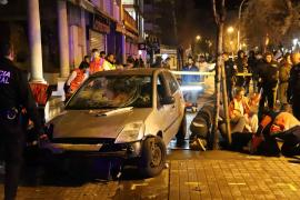 People deliberately driven into in Arenal, Mallorca