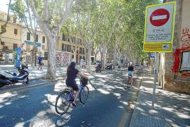 Traffic restrictions in the centre of Palma, Mallorca