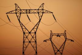 Pylons of high-tension electricity power lines