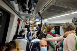 Commuters on train.