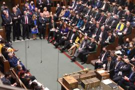 Britain's Chancellor of the Exchequer Rishi Sunak presents budget to the House of Commons